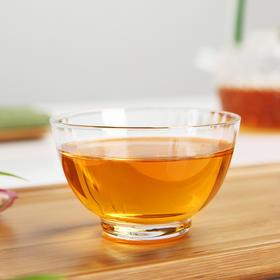 主人杯玻璃小茶杯创意功夫茶具品茗杯茶道配件茶盏单杯高硼硅耐热玻璃人工吹制圆口金边杯