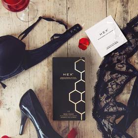【安全套里的爱马仕】瑞典LELO HEX™ 黑科技进口避孕套超薄强韧清爽润滑—白金黑金版12片装