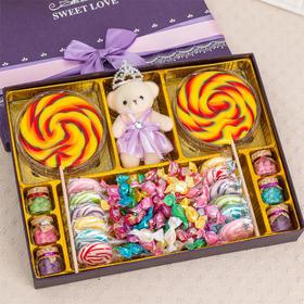 超大棒棒糖礼盒装波板糖糖果星空硬糖零食