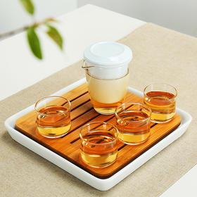 整套玻璃茶具旅行茶具套装功夫茶具整套干泡茶盘茶壶家用办公旅行带干泡茶盘