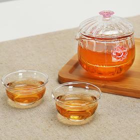 快客杯耐热玻璃茶杯茶壶一壶两杯茶具个人旅行茶具便携式茶具高硼硅耐热玻璃人工吹制工艺
