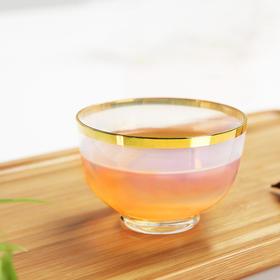 主人杯玻璃小茶杯创意功夫茶具品茗杯茶道配件茶盏单杯高硼硅耐热玻璃人工吹制雾化追日杯