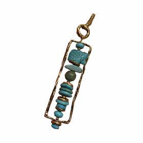 绿松石一字项链