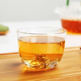 藏金杯主人杯玻璃小茶杯创意功夫茶具品茗杯茶道配件茶盏高硼硅耐热玻璃人工吹制