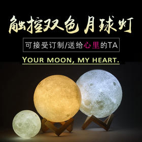 ONEGIFT 3D打印月球灯 |多个尺寸可选 |冷暖双色 |渐变亮度