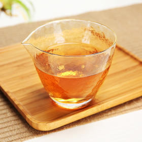 公道杯耐热玻璃公杯茶海功夫茶具配件匀杯分茶器高硼硅锤纹公道杯人工吹制工艺