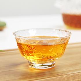 主人杯玻璃小茶杯创意功夫茶具品茗杯茶道配件茶盏单杯高硼硅耐热玻璃人工吹制圆口锤目纹