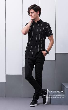 短袖上衣:M705DA1419¥499; 长裤:M704HC1327¥499