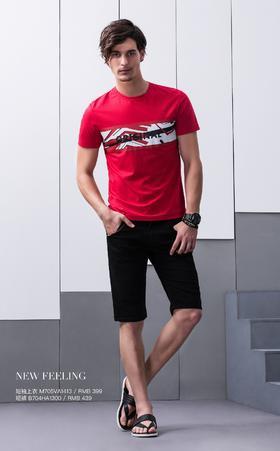 短袖上衣:M705VA1413¥399; 短裤:B704HA1300¥439