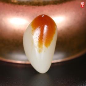 枣红皮戒面玩籽,新疆和田玉籽料