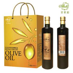 艾贝拉 西班牙原装进口特级初榨橄榄油食用油礼盒750ml*2