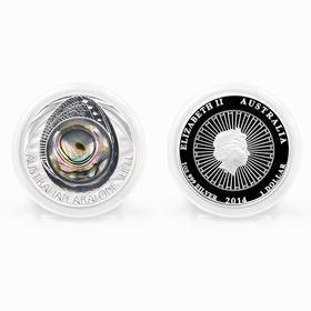 澳大利亚彩贝系列首枚镶嵌鲍鱼贝壳精制银币