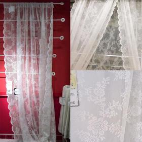 爆款 韩式镂空白色蕾丝纱帘