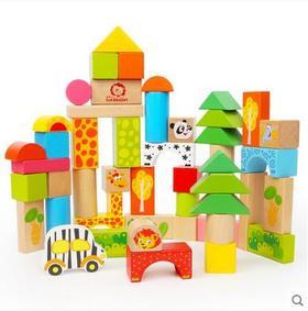 特宝儿50粒情景积木玩具益智木制 婴儿宝宝儿童1-2-3-6周岁男女孩