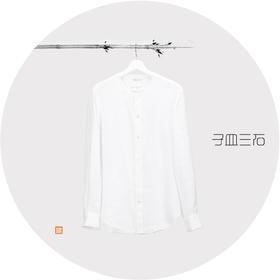 圆领贝壳扣衬衫
