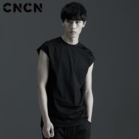 CNCN男装 夏季新款个性男士背心 男修身潮流时尚背心 CNBB29052