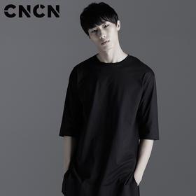 CNCN男装 2017夏季新品男修身T恤 暗黑中袖个性时尚t CNBT20907