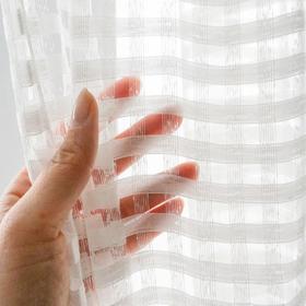 创意镂空格子白纱-窗纱