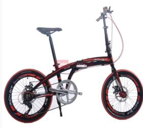 20寸凌鹰折叠 黑红色 折叠自行车快拆  48小时内发货