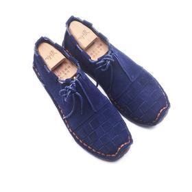 手工男鞋 编织软底中国风休闲单鞋