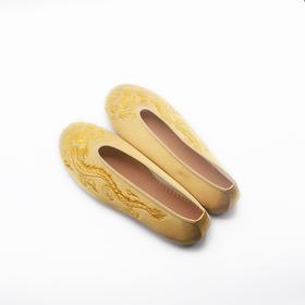 手工情侣鞋 春秀禾中式婚礼绣花千层底单鞋