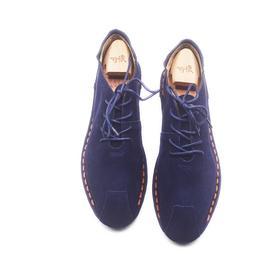 手工男鞋 真皮裁缝线系带休闲鞋