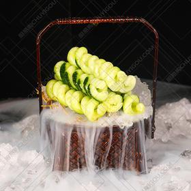 锦编敞盒  意境盘饰创意菜盛器