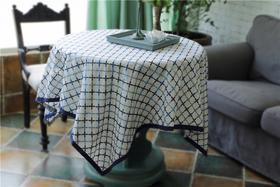 外贸 高级加厚棉麻混纺 刺绣桌布 轰趴家宴 食尚好礼 天星