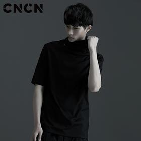 CNCN男装 2017夏季新款 男士修身纯棉高领时尚T恤 CNBT20906