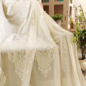 新款米白色欧式绒纱
