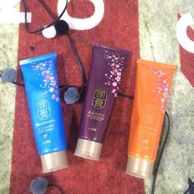 韩国LG润膏/蓝色新润膏/马油润膏无硅油香水洗发水护发素二合持香