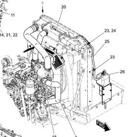SK130/140连接副水箱的软管(26)
