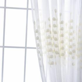 欧式麻纱绣花客厅卧室飘窗窗帘纱批发 厂家直销