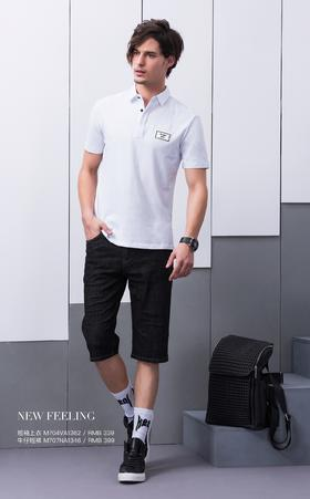 短袖上衣:M704VA1362¥339; 牛仔短裤:M707NA1346¥399