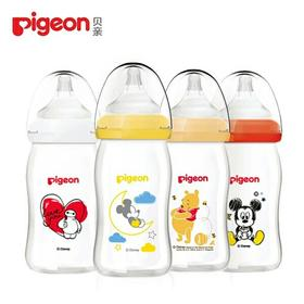 迪士尼彩绘玻璃奶瓶160ml