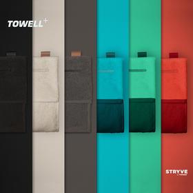 德国TOWELL+ 运动健身毛巾 全棉加长吸汗防滑 磁力吸附悬挂 储物设计