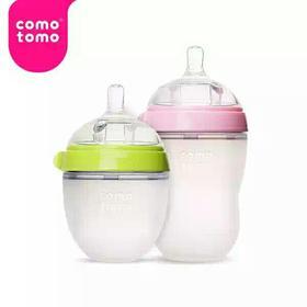 进口Comotomo可么多么防摔宽口防胀气硅胶奶瓶