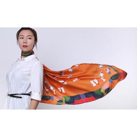 Mfmore 真丝艺术小方巾 110*110cm 四季可佩戴