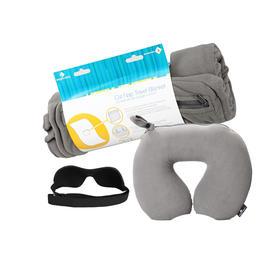 美国eagle creek旅行颈枕+黑色眼罩+灰色旅行毯优惠套装(9折优惠)