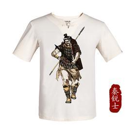 龙牙古典军事文化衫盘扣版男版夏季吸汗透气修身短袖T恤 I