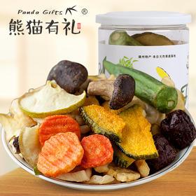 腻腻熊猫有礼 日销8000罐的什锦果蔬脆片,酥脆可口,口口香脆,让你的味蕾彻底觉醒