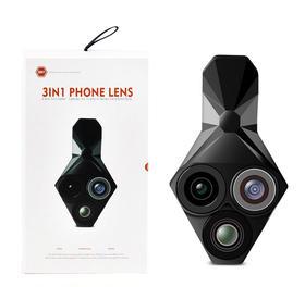三合一前后置手机通用镜头 鱼眼+0.65X广角+20X微距摄像头