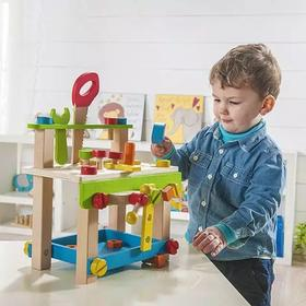 德国 EverEarth 木制工作台玩具套装,锻炼精细动作