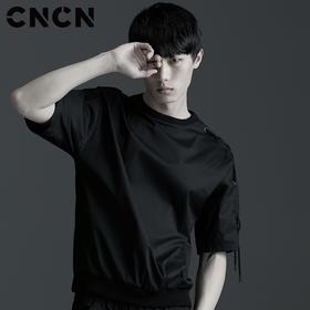 CNCN男装 夏季潮款休闲服 男士圆领短袖T恤 CNBX29050