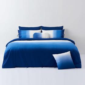 哲品家居  1.8米大理蓝吊染床单床品床上用品四件套贡缎被套棉被罩