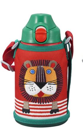 日本原装虎牌三兄弟保温杯狮子 MBR-A06G-Y/A/R两用儿童杯