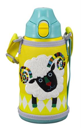日本原装虎牌三兄弟保温杯绵羊 MBR-A06G-Y/A/R两用儿童杯