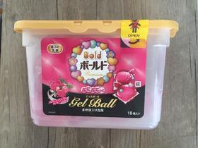 日本 P&G宝洁全效杀菌去污凝珠消臭柔软洗衣球花果香粉色18个