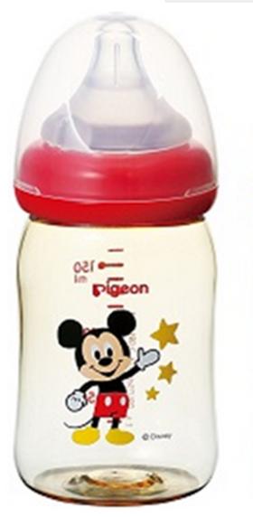 贝亲母乳实感宽口ppsu塑料奶瓶迪士尼 160ml