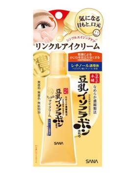 日本sana豆乳美肌弹力紧致润泽眼霜25g去干纹保湿 /黑眼圈